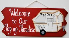Personalized Pop Up Camper  RV Sign by UniquelyCraftedSigns, $18.95