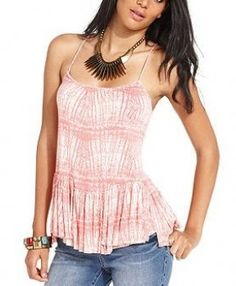 Free People Printed Ruffle Tank worn by Bonnie Bennett on The Vampire Diaries. Shop it: http://www.pradux.com/free-people-printed-ruffle-tank-28308?q=s3