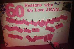 60 reasons why we love you display