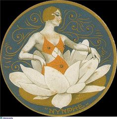"""ART DECO LABEL """"NYMPHE"""" 