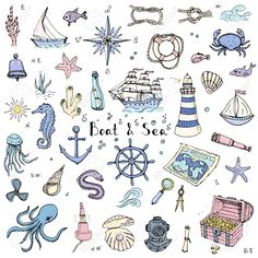 57023957-Hand-drawn-doodle-Boat-and-Sea-set-Vector-illustration-boat-icons-sea-life-concept-elements-Ship-sym-Stock-Vector.jpg (1300×1300)