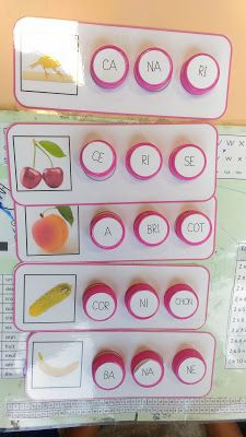 Les bouchons syllabe - GS et CP phonologie et écriture Class Dojo, Syllable, Montessori Activities, Teaching French, Learn French, Best Teacher, Kindergarten, Education, Learning