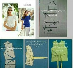 Image gallery – Page 51580358218893190 – Artofit Blouse Patterns, Clothing Patterns, Sewing Patterns, Techniques Couture, Sewing Techniques, Sewing Clothes, Diy Clothes, Sewing Hacks, Sewing Projects