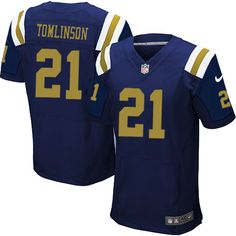 $24.99 Nike Elite LaDainian Tomlinson Navy Blue Men's Jersey - New York Jets #21 NFL Alternate