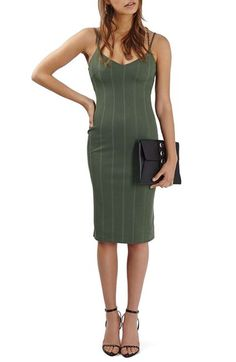 Topshop Chain Strap Plunge Midi Dress available at #Nordstrom