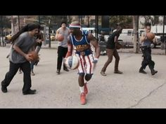 Harlem Globetrotters and STOMP create basketball music - YouTube