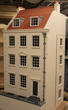 Georgian dolls house with attic and dormer windows. (Gainsborough House - NEW for 2015)