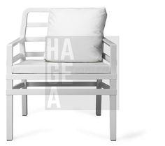 Fotel ogrodowy z poduszkami na balkon ARIA Nardi biały Home Garden Art