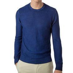 The washed quality of this all cotton sweater makes it the beach-house favorite of the season.