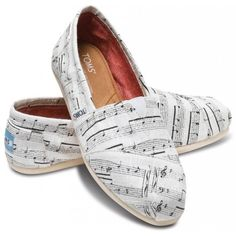 TOMS Music Notes Women's Classics size 6.5 ($54) ❤ liked on Polyvore