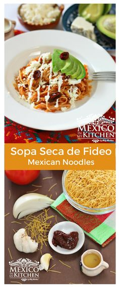 Sopa Seca de Fideo is a dry noodle soup (not actually likeyour usual liquid soup or broth) that is very common in Central Mexico, and theprocess for making it is similar to the one for making Mexican red rice #recipe #mexican #fideo