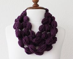 Infinity Scarf Loop Scarf Circle Scarf Cowl Scarf by fairstore