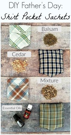 Shirt pocket sachets by Sadie Seasongoods, featured on Funky Junk Interiors Diy Projects For Men, Easy Craft Projects, Easy Crafts, Sewing Projects, Creative Crafts, Fathers Day Crafts, Gifts For Father, Gifts For Kids, Diy Father's Day Gifts