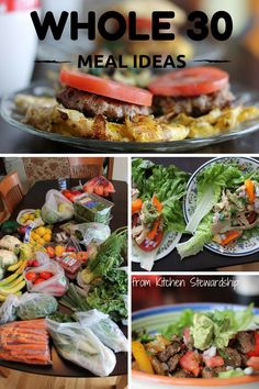 Whole 30 Meal Planning Ideas - almost 2 weeks of examples and recipes for a successful Whole30