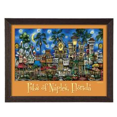 'Naples, FL' by Brian McKelvey Frame Poster Painting Print