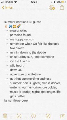 Cute Insta Captions, Summer Quotes Instagram, Instagram Captions For Friends, Frases Instagram, Travel Captions, Instagram Captions For Selfies, Instagram Bio Quotes, Selfie Captions, Foto Instagram