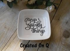 Rings and Sparkly things Ring Dish Bridal shower by CreatedOnQ