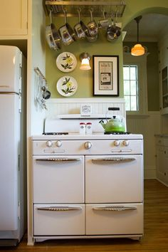 1948 Roper range, can put open shelving above stove to display you gorgeous cookware and/ or for a microwave!