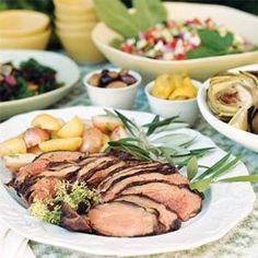 Greek Lamb with Herbs and Garlic   MyRecipes.com