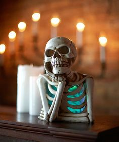Color-Changing Resting-Head Skeleton Bust | zulily