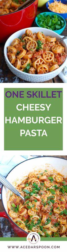 One Skillet Cheesy Hamburger Pasta
