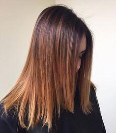 La coiffeuse @kim_ohara a revisité le sombré hair en nuance caramel avec nos produits techniques Coiffance Professionnel ✨
