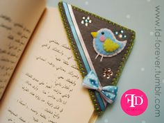 lovely pinky crafts: Felt Bookmarks