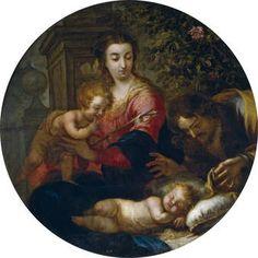 """""""SAGRADA FAMILIA"""" POR MIGUEL JACINTO MELÉNDEZ. 1732."""