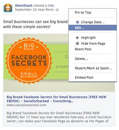 5 Facebook Updates that Affect Business Pages - Edit your posts without losing valuable likes and comments!