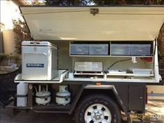 Mini camping trailer road trips 67 ideas for 2019 Camping In Texas, Camping Box, Jeep Camping, Camping Hacks, Camping Canopy, Outdoor Camping, Diy Camper Trailer, Off Road Trailer, Trailer Build
