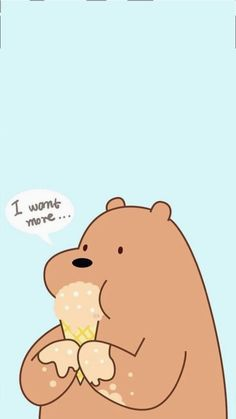 Wallpaper Stickers, Bear Wallpaper, Wallpaper Iphone Cute, We Bare Bears Wallpapers, Dope Wallpapers, Aesthetic Wallpapers, Funny Minion Pictures, Cute Pictures, Bear Sketch