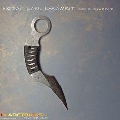 2014 Bladetricks Nosaf Raal Karambit, Paracord Wrapped