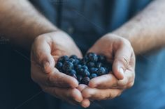 Blueberris and Hands by Boulevard de la Photo on Creative Market