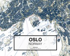 Oslo. Norway. Download CAD Map city in dwg ready to use in Autocad.  www.mapacad.com