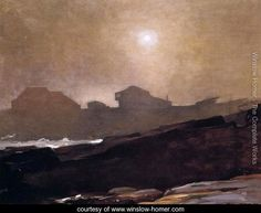 The Artist's Studio in an Afternoon Fog - Winslow Homer - www.winslow-homer.com