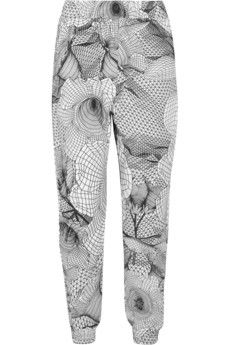 Christopher Kane Printed cotton-jersey track pants | NET-A-PORTER