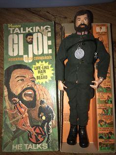 Vintage Talking G.I. Joe Adventure Team Commander in Box w Access Hasbro 1970s #Hasbro Shark Accessories, Cobra Commander, Play Sets, Boxing News, Toy Soldiers, Gi Joe, Action Figures, 1970s, Africa