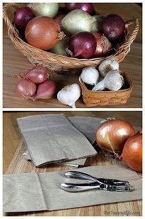 Food Storage Recipes and Food Storage Videos: Keeping Onions & Garlic Fresher