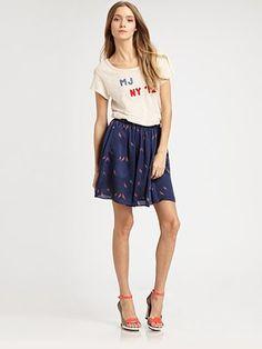 Marc by Marc Jacobs - Finch Charm Print Skirt - Saks.com #SaksLLTrip