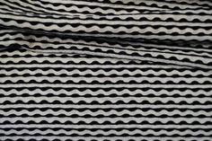 KN17 13617-020 Tricot fantasie gestreept zwart/wit