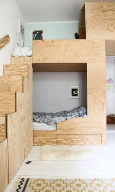 Lit Kids Bunkbed Jäll & Tofta - The Socialite Family Kids Play Spaces, Small Spaces, Espace Design, Kids Bunk Beds, Bunkbeds For Small Room, Deco Kids, Bunk Bed Designs, Boy Room, Home Deco