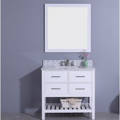 """You'll love the Alton 37"""" Single Bathroom Vanity Set with Mirror at AllModern - With Great Deals on modern Renovation products and Free Shipping on most stuff, even the big stuff."""