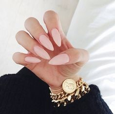 Stilleto nails in a lovely nude.