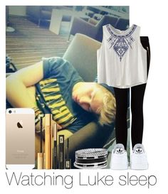 """""""Watching Luke Sleep"""" by hazzgirl03 ❤ liked on Polyvore featuring beauty, MANGO, adidas, Yves Saint Laurent and GUESS"""