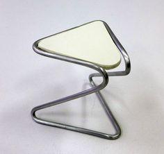Stolička - koncepčná štúdia, hliník, plast