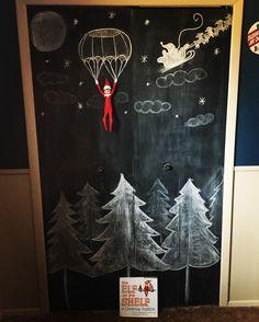 Elf on the shelf chalkboard idea!