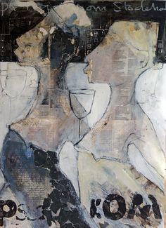 carola kastman,collage Mixed Media Collage, Collage Art, Arte Pop, Old Art, Graphic Illustration, Illustrations, Portrait Art, Face Art, Figure Painting