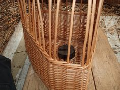 Half way up, a wale is woven before the section of weave. Corner Storage, Storage Baskets, Wicker Baskets, Craftsman, Weave, Shapes, Handmade, Home Decor, Artisan