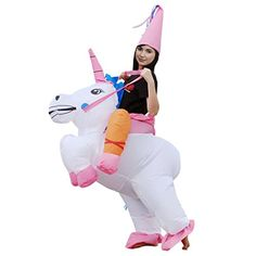 ilishop Fancy Dress Inflatable Unicorn Rider Halloween Costume for Adult Unicorn Costumes for Halloween are so hot this year don't miss out! Dinosaur Halloween Costume, Halloween Suits, Adult Halloween, Unicorn Halloween, Inflatable Unicorn Costume, Inflatable Costumes, Funny Halloween Costumes, Adult Costumes, Cowboy Costumes