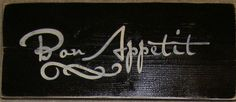 Bon Appetit French Country Sign Plaque Wall by shabbysignshoppe, $18.95